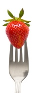 Fork and Strawberry