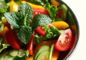 Alkaline vegetable salad