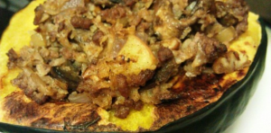 Cauliflower Stuffed Acorn Squash 1