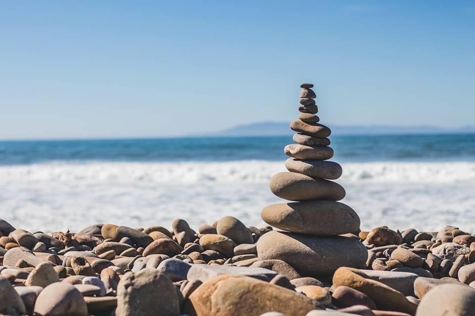 Balanced Rocks near the ocean