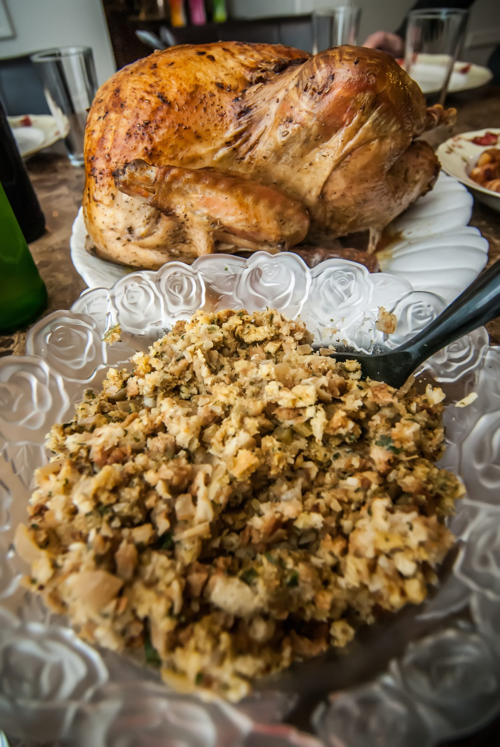 Thanksgiving Turkey Dinner with Gluten free stuffing