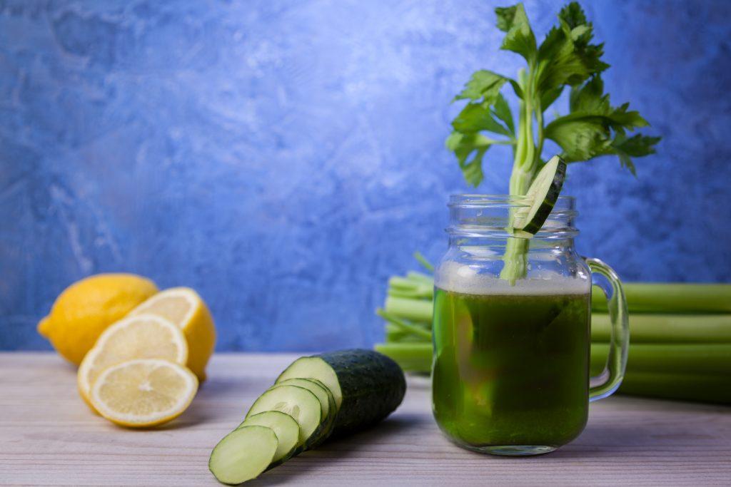Celery cucumber lemon juice / ID 156996083 © Alex Manzanares   Dreamstime.com